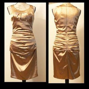 Dress by JAX Gold dress S6. True fit. Stunning.